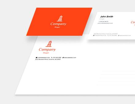 Business card, envelope, letterhead