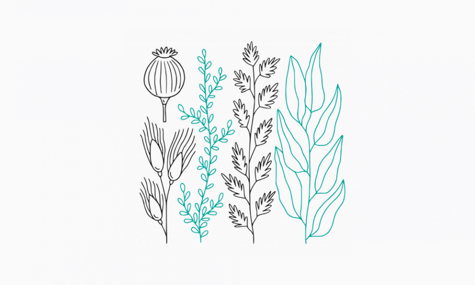 minimale Blumen
