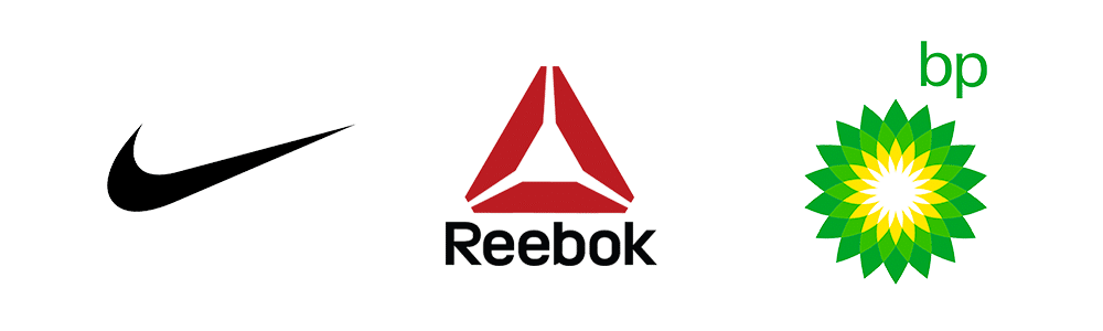 Abstrakte berühmte Logos