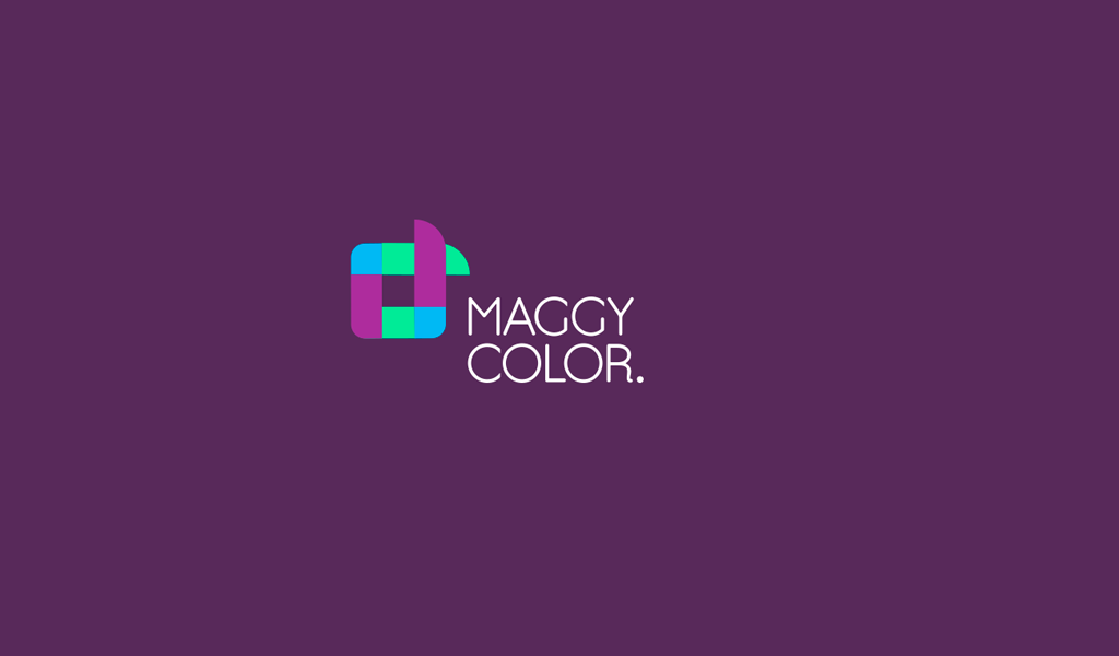 Farbiges abstraktes quadratisches Logo