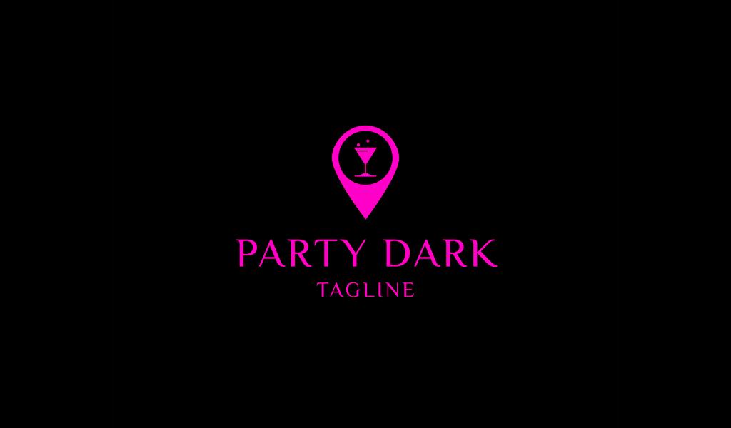 Cocktail Nachtclub Neon Logo