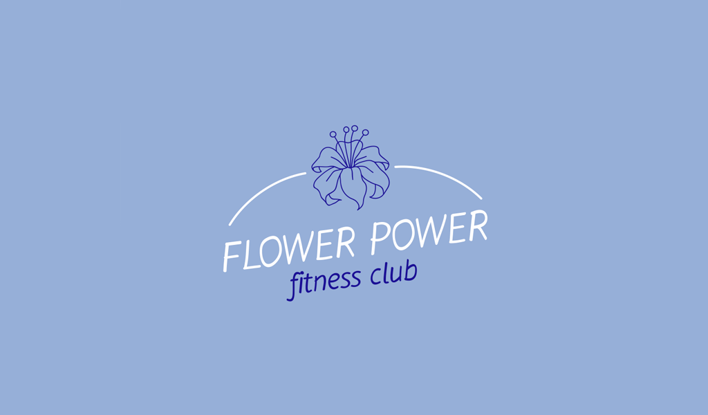 Blaues Blumen-Logo