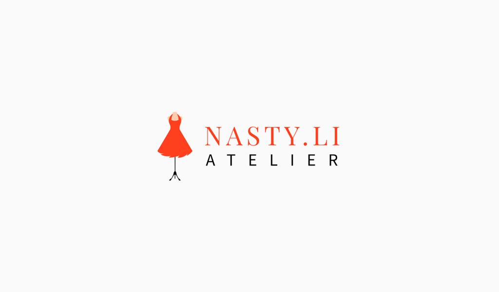 Rotes Kleid Mannequin-Logo