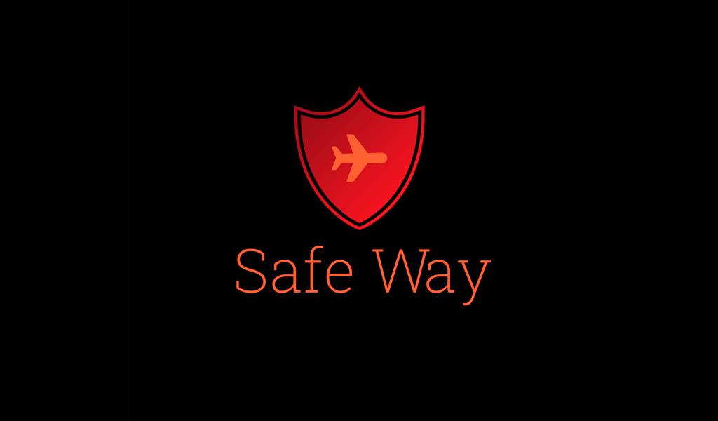 Flugzeug-Rot-Schild-Logo