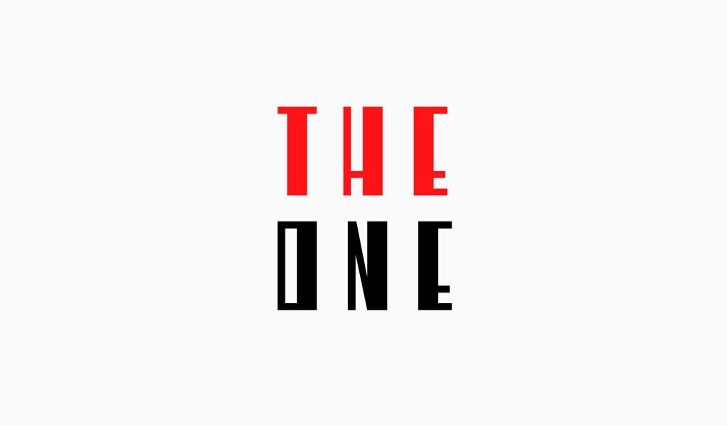 Abstraktes Logo in roten und schwarzen Farben Black