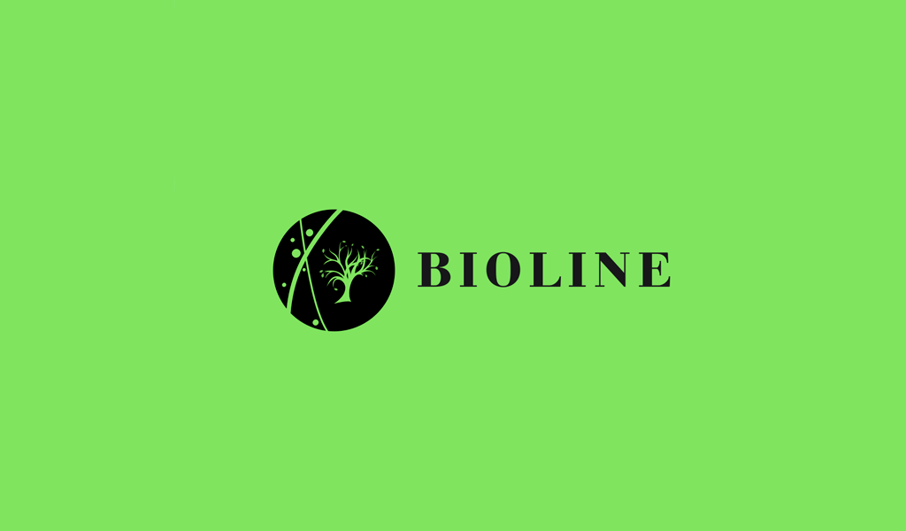 Grünes Silhouette-Baum-Logo