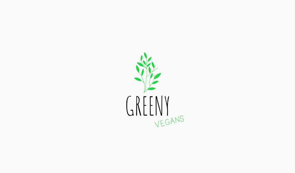 Grünpflanzen-Logo-Design