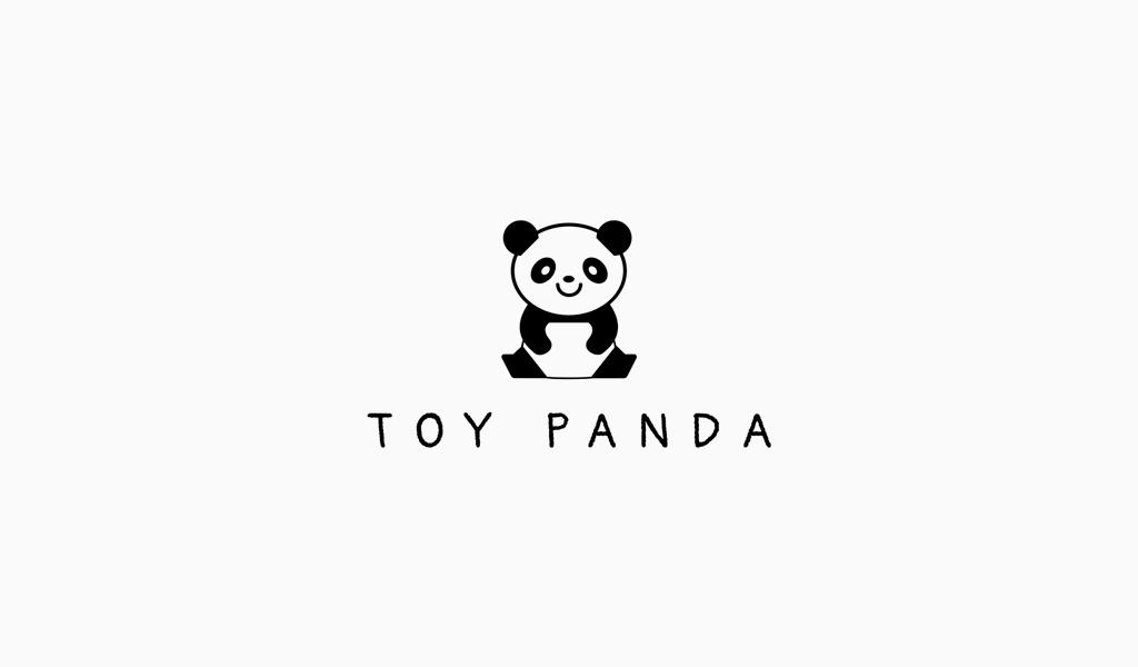 Niedliches Panda-Logo