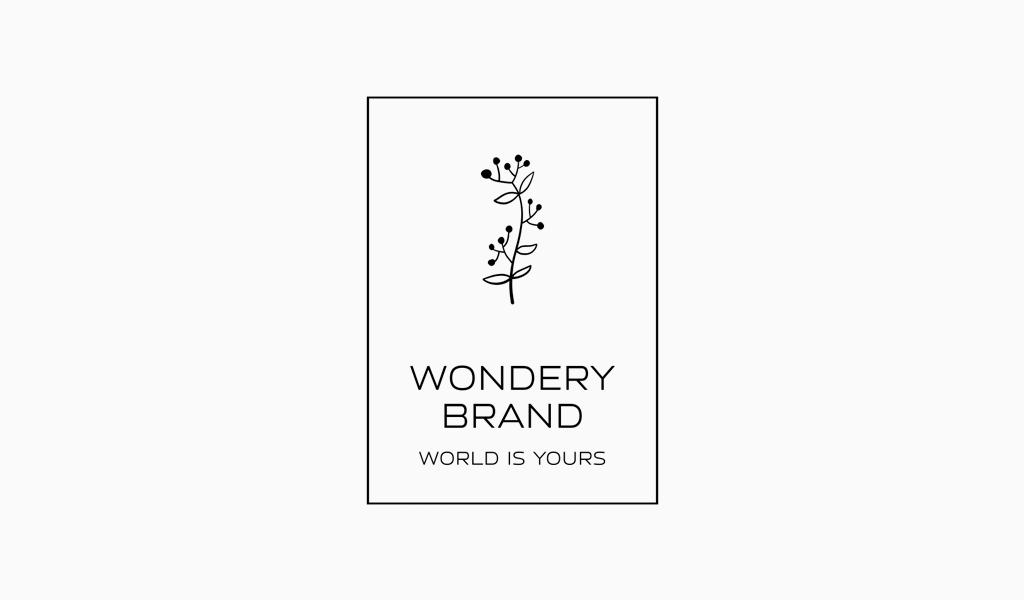 Rechteckiges Blumen-Logo