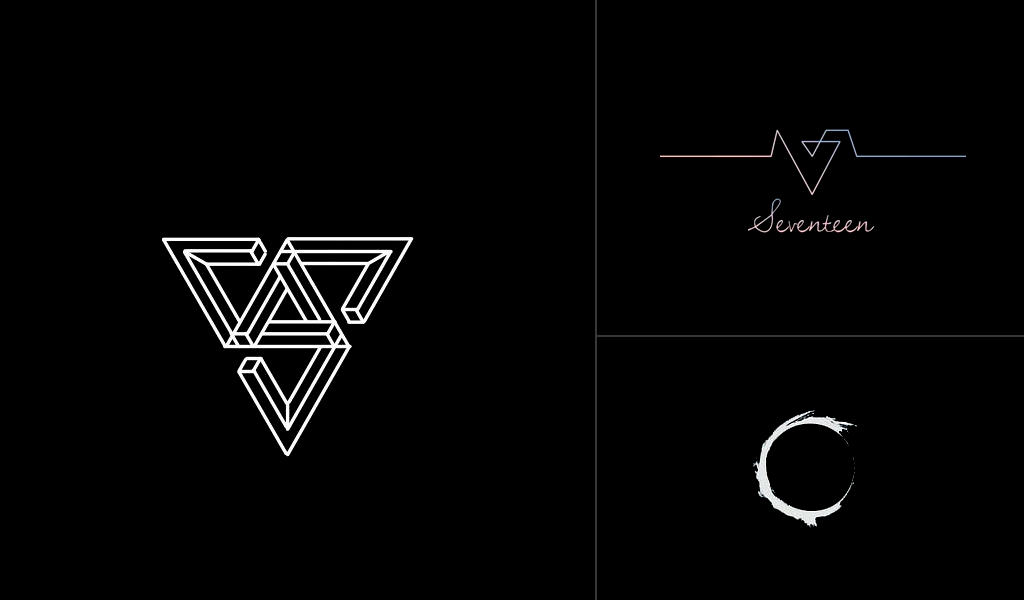 schwarze Logos