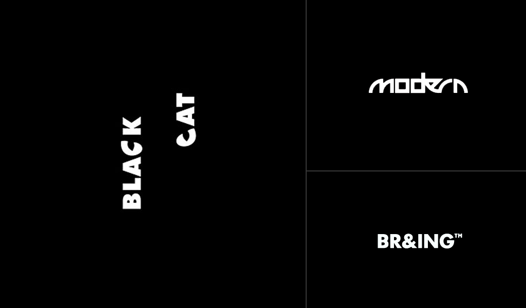 moderne schwarze logos