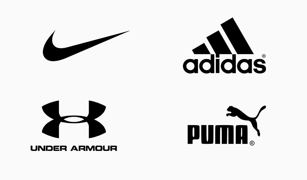 berühmte schwarze logos