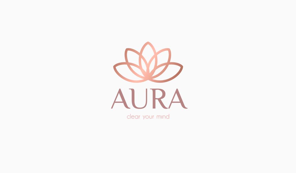 Lotus-Logo mit Farbverlauf