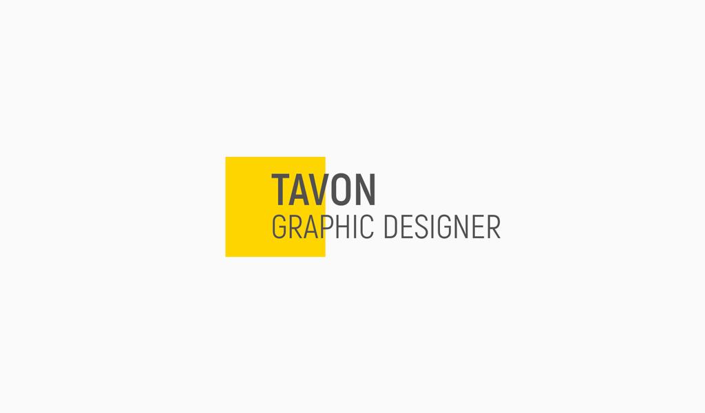 Gelbes Quadrat abstraktes Logo