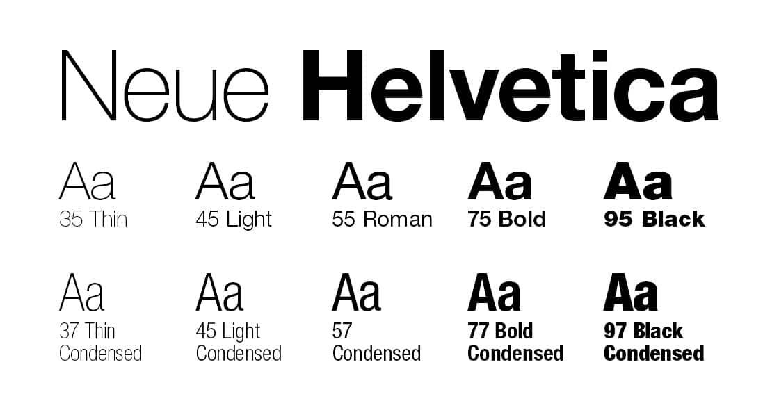 helvetica neue font