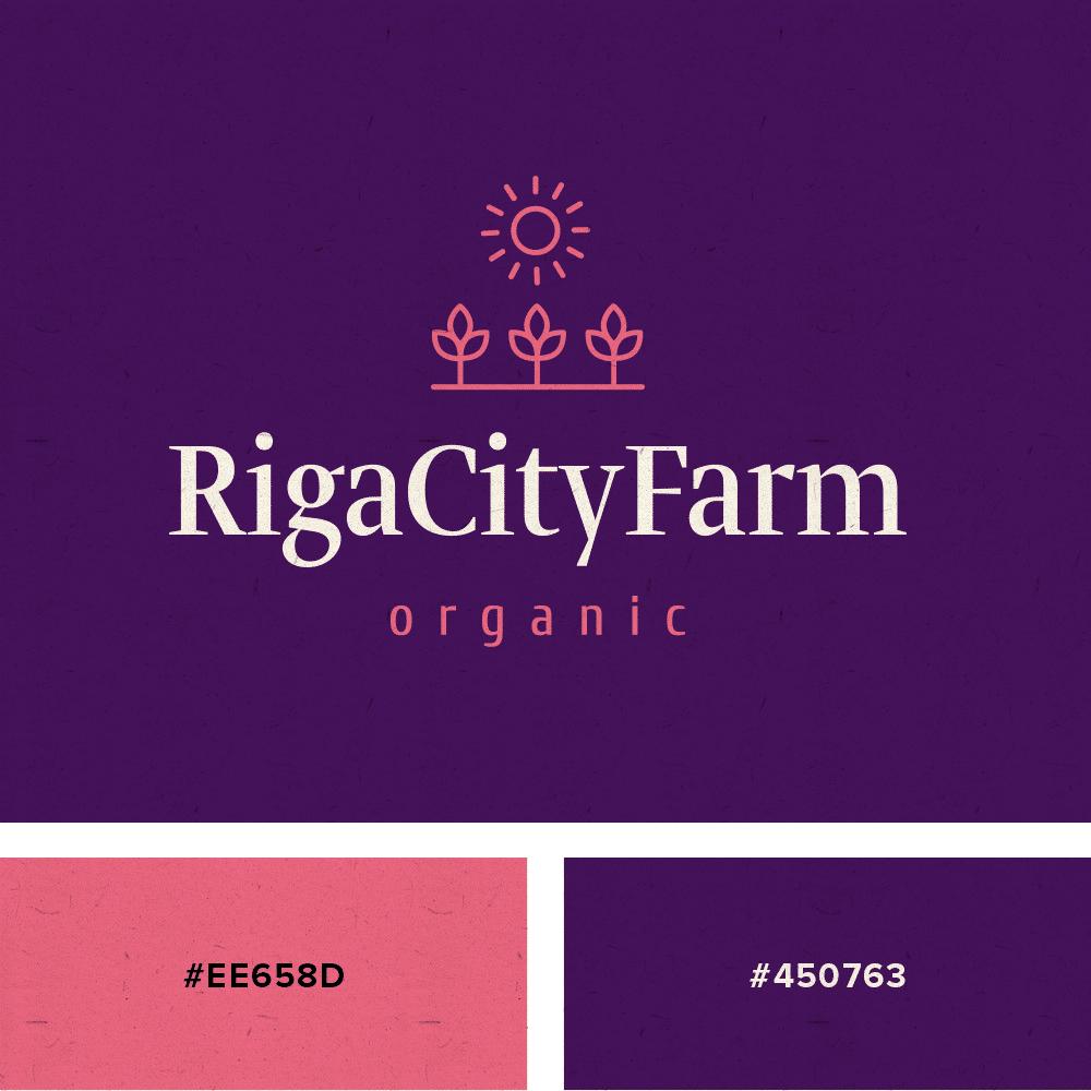 logo pink purple