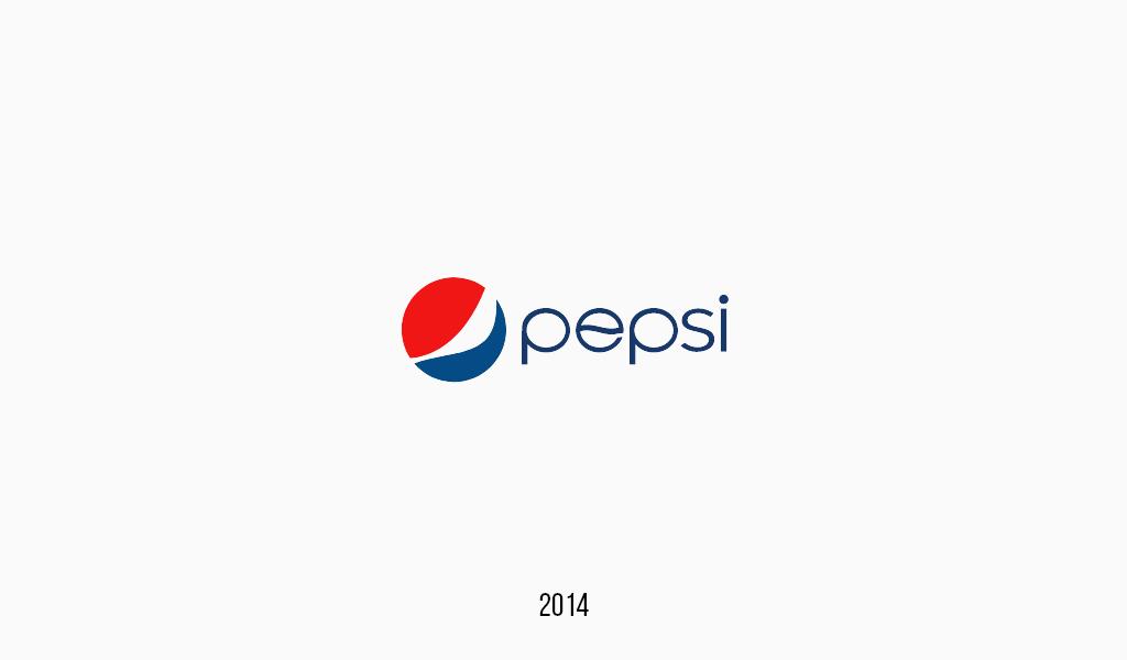 Pepsi cola logo, 2014