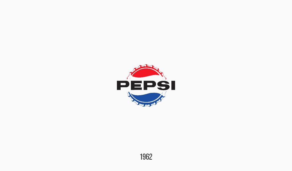 Pepsi cola logo, 1962