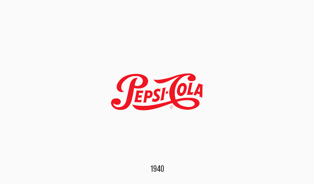 Pepsi cola logo, 1940
