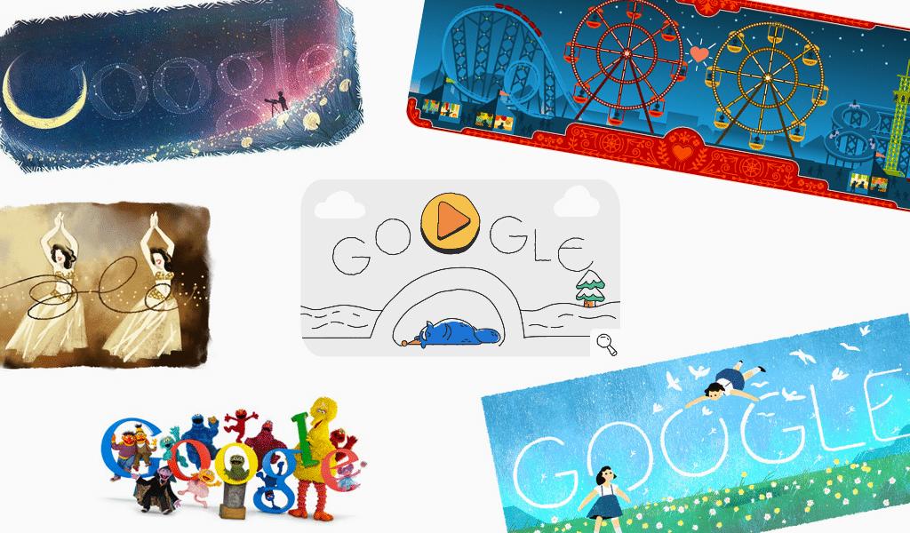 Google logo doodles 2