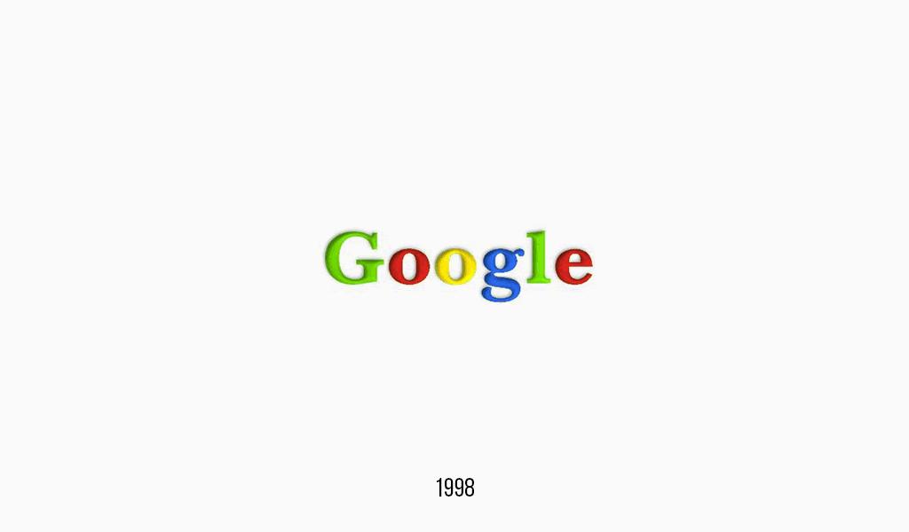 Google logo, 1998