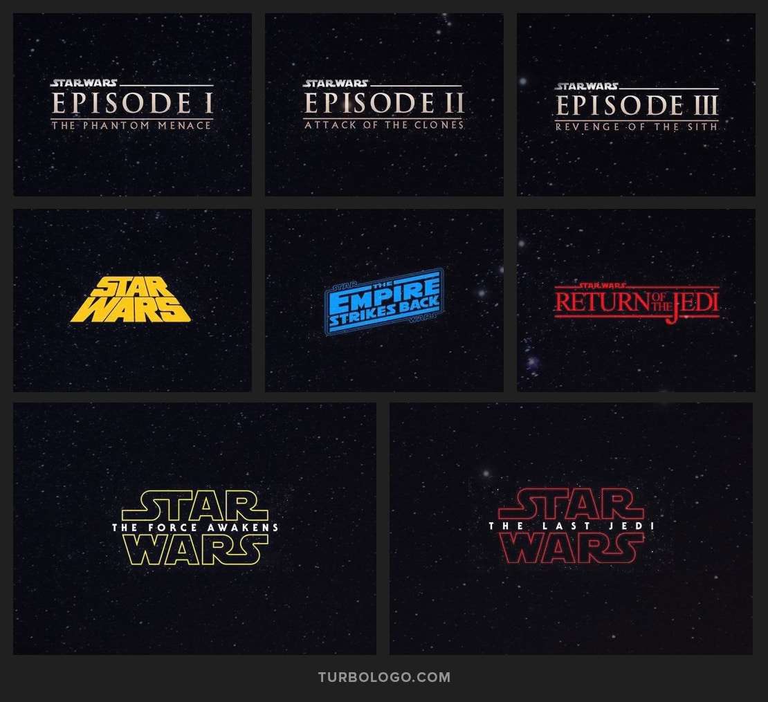 Star Wars logo evolution