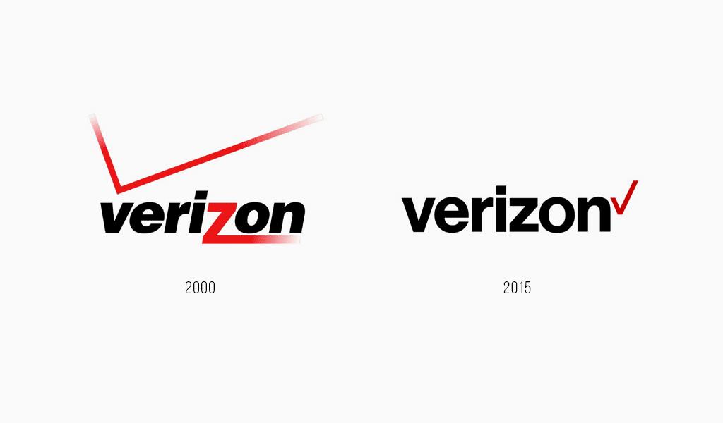 Verizon logo evolution
