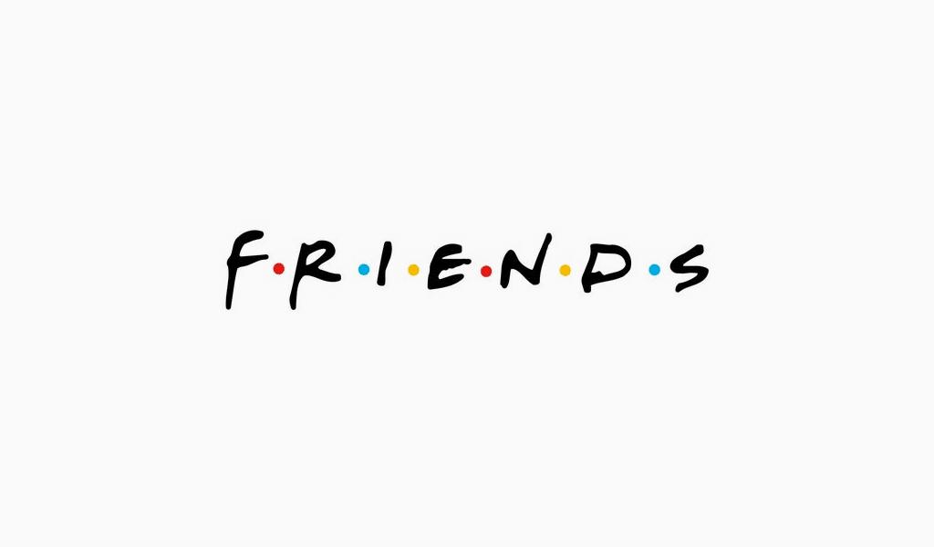 Friends logo font