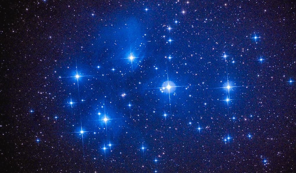 The Pleiades Or Seven Sisters Cluster