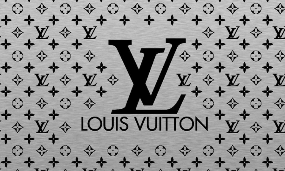 Louis Vuitton logo and pattern