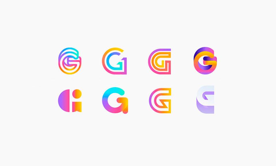 gradient logos