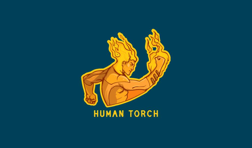 Burning man gaming logo