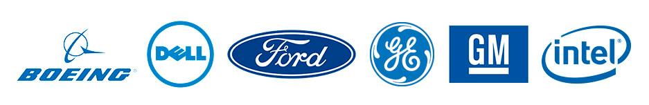 Famous blue logos