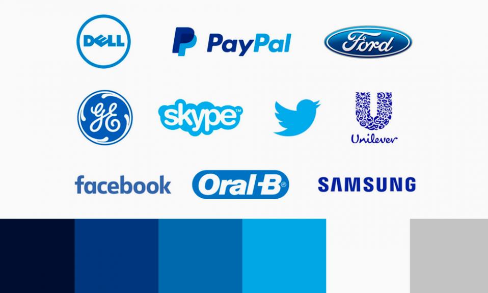 blue color logos