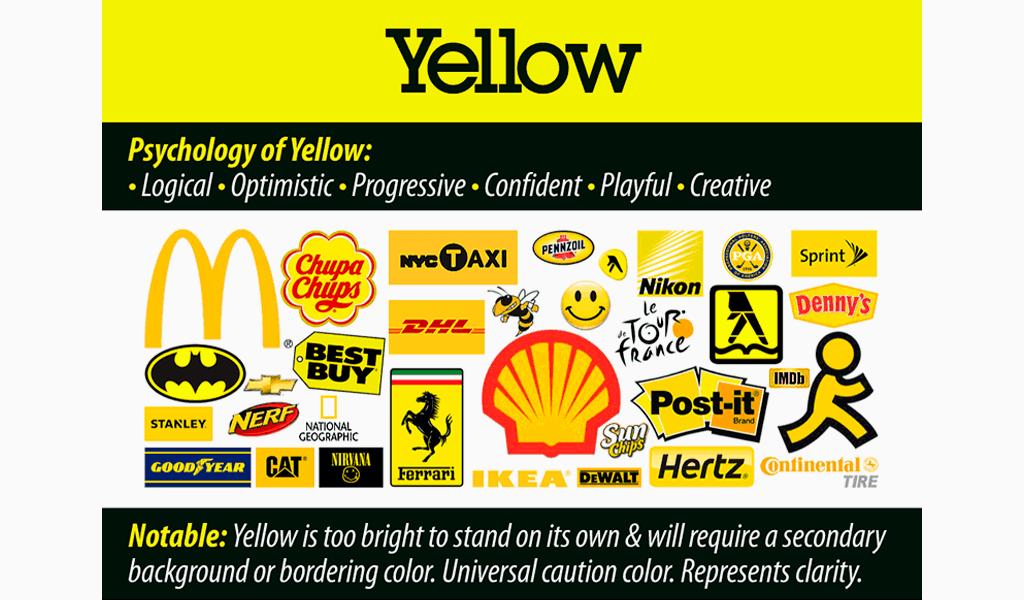 psychology of yellow in logos