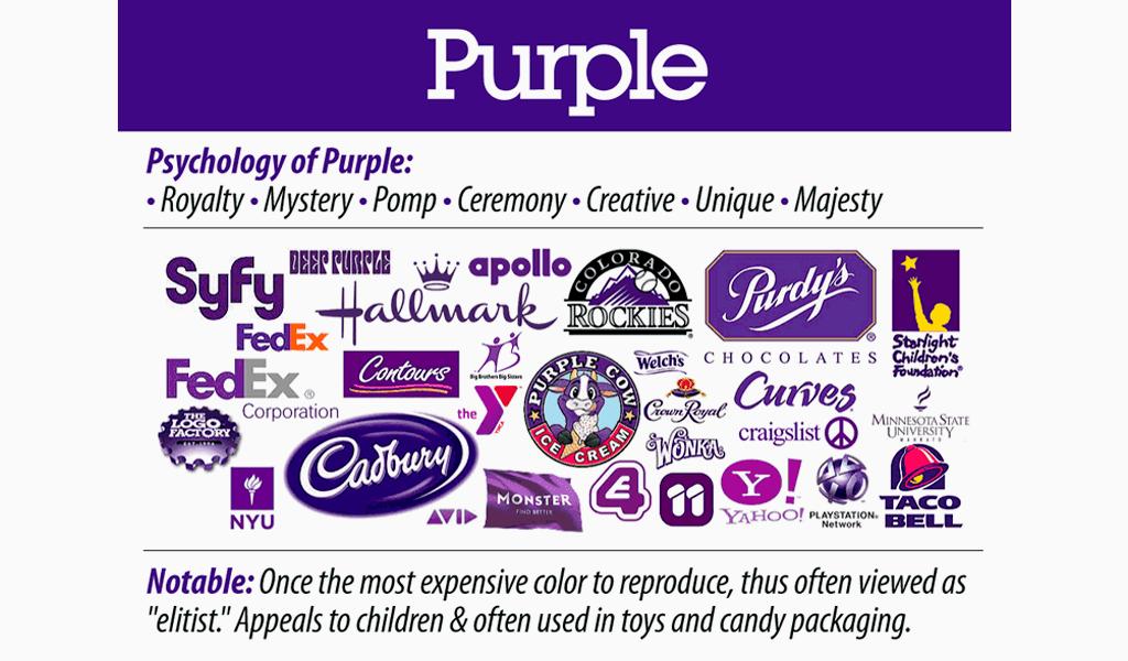 psychology of purple in logos
