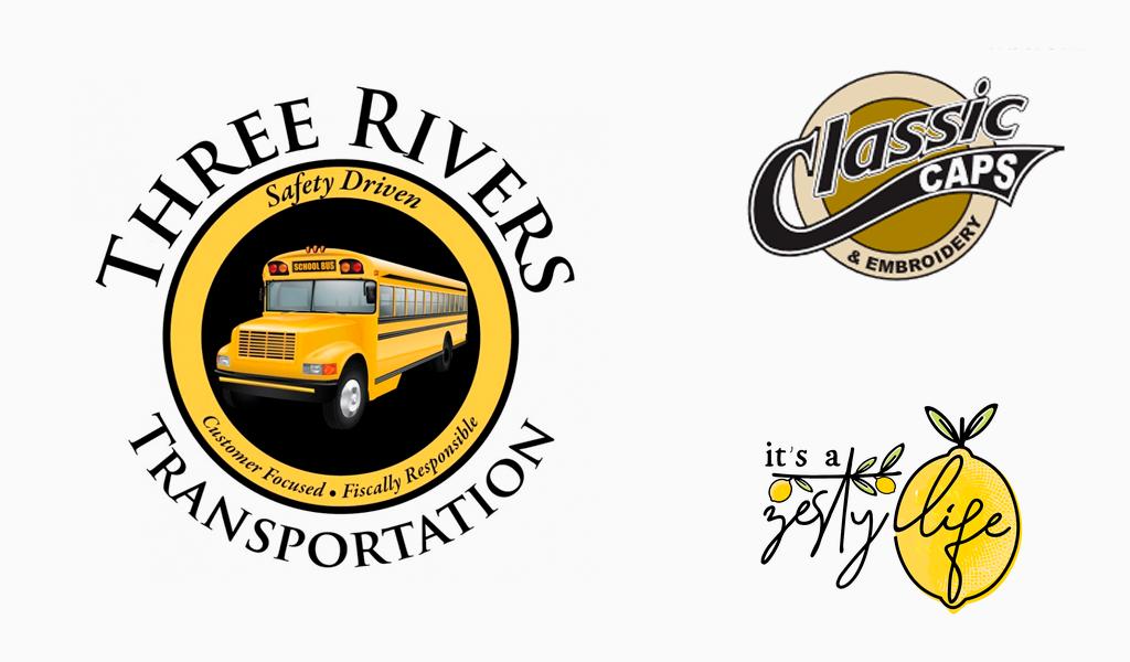 Yellow color logos