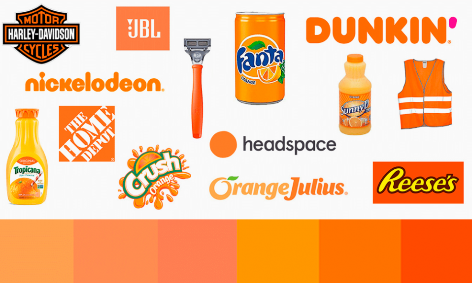 orange color logos