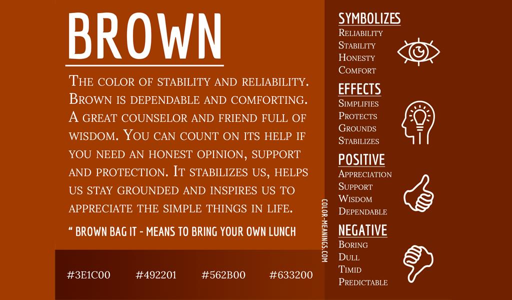 brown color psychology