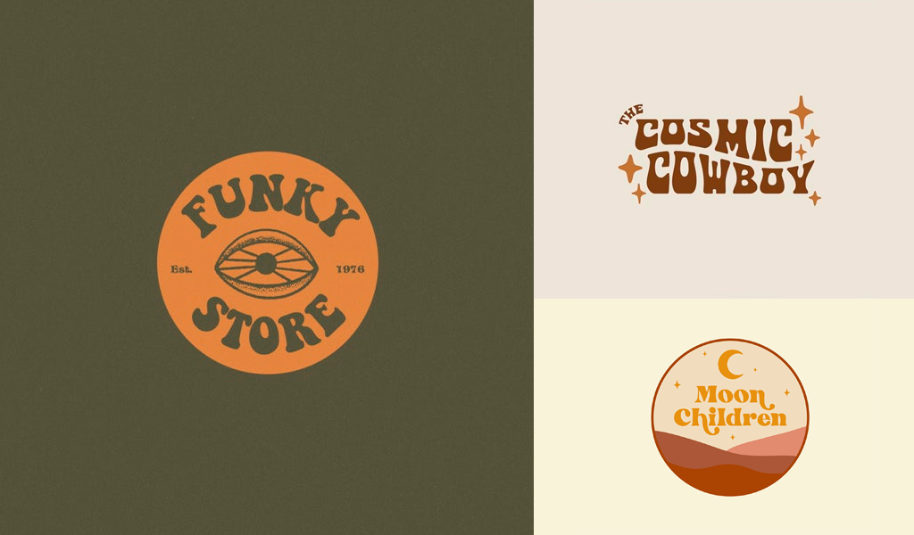 brown logos vintage