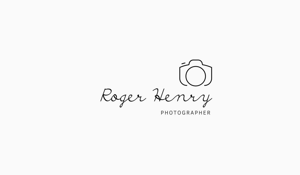 Camera Line Art Logo