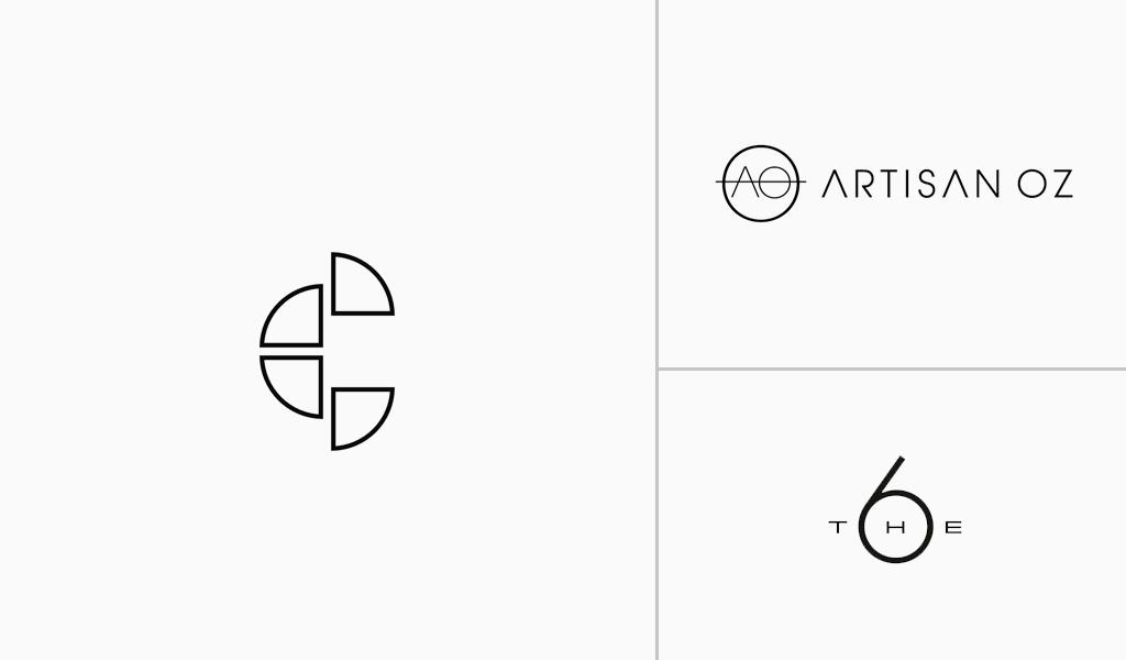 white minimlist logos
