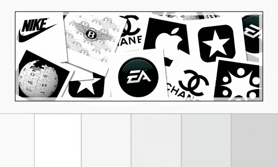 white color logos