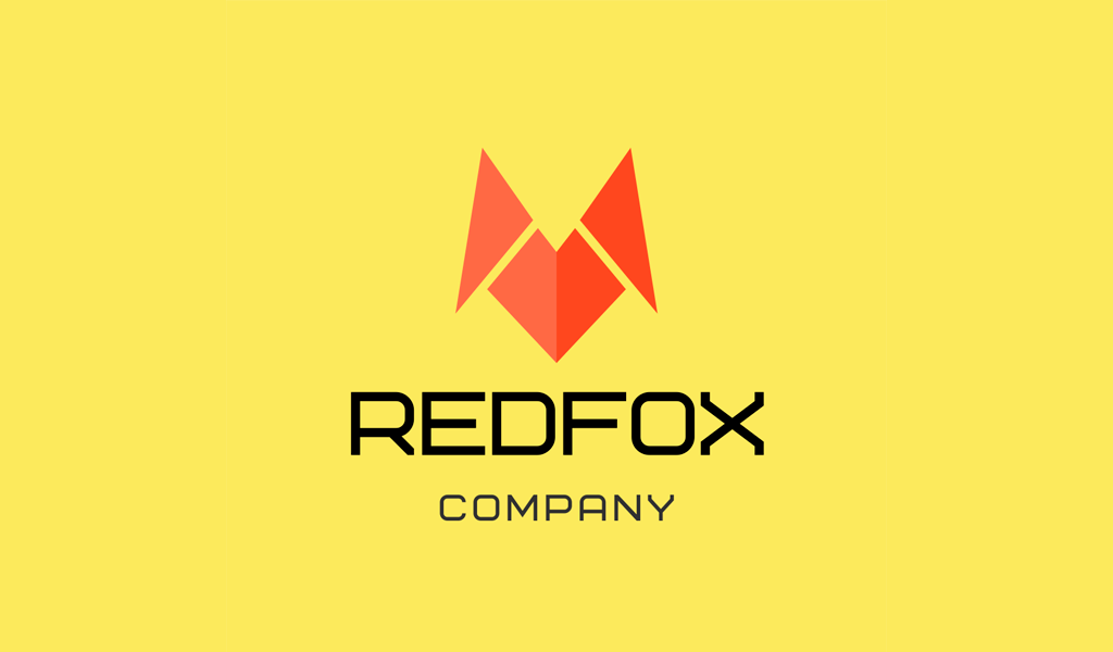Red Fox Abstract Logo