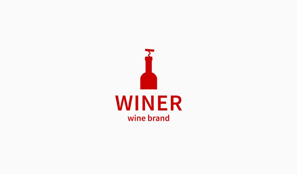 Bottle Red Wine Logo