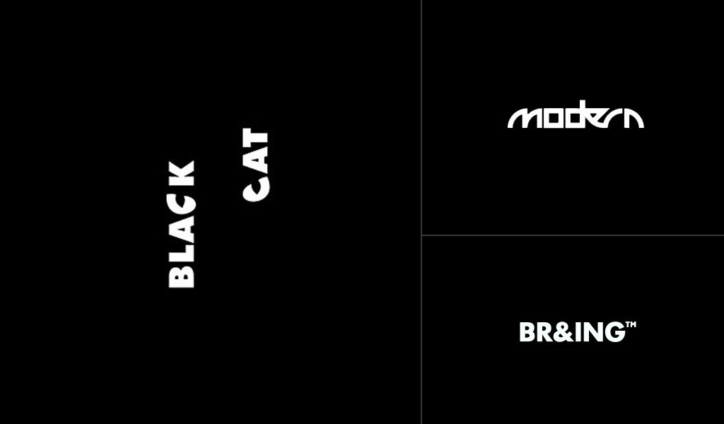 modern black logos