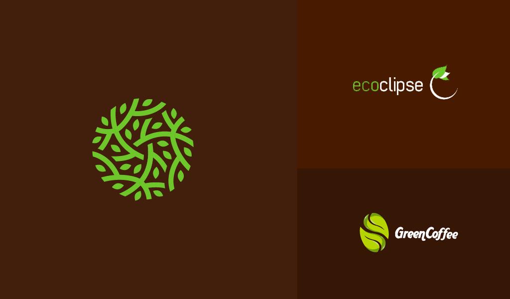 brown organic logos