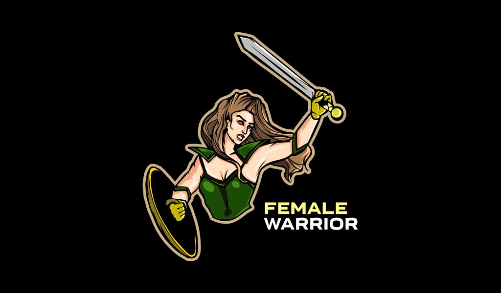 Female Warrior Logo mascot