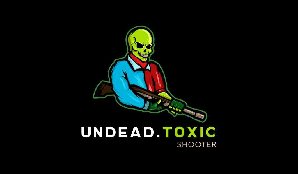 Undead Toxic Shooter Logo mascot