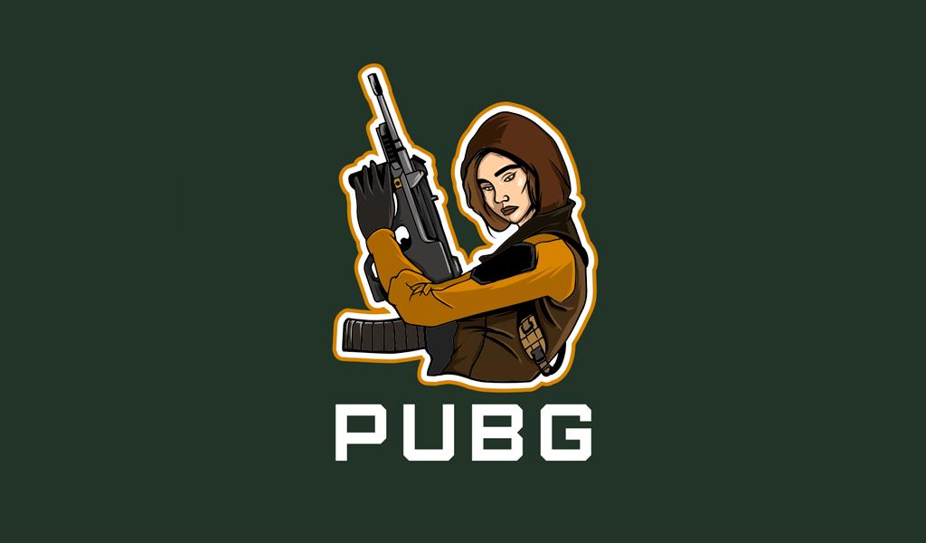 Pubg Female Gaming Logo mascot